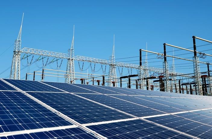solar plant substation