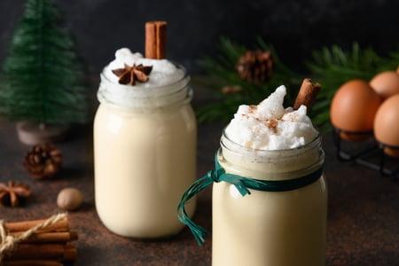 Creamy coconut eggnog