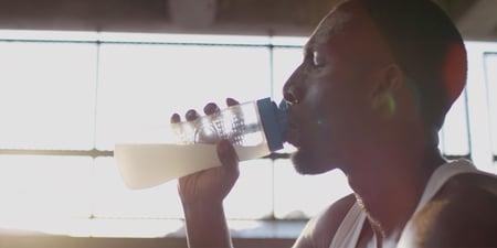 Male drinking pre workout redmond re-lyte