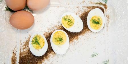 Smoked Redmond Salt deviled eggs recipe