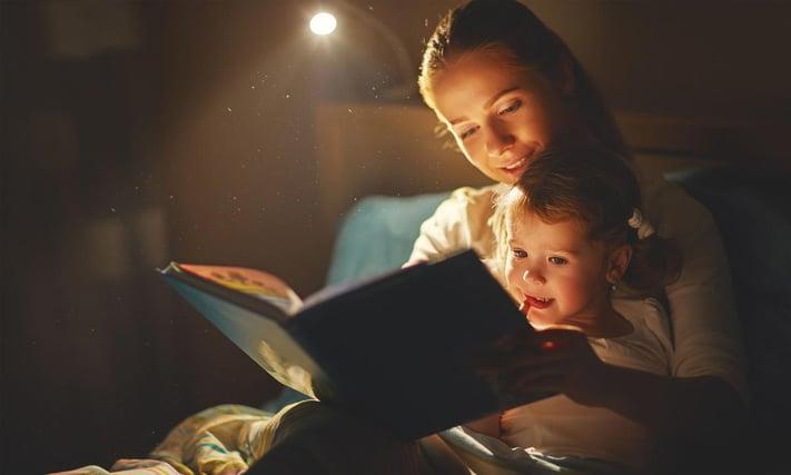 El momento mágico del cuento de antes de dormir