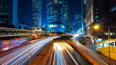 imagen futurista de la tecnología en logística