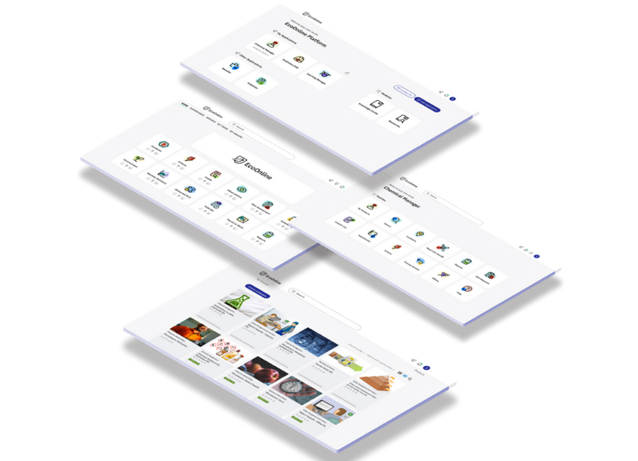 Product screens isometric layout