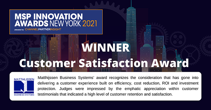 Winner in Customer Satisfaction 3 Years in a Row!