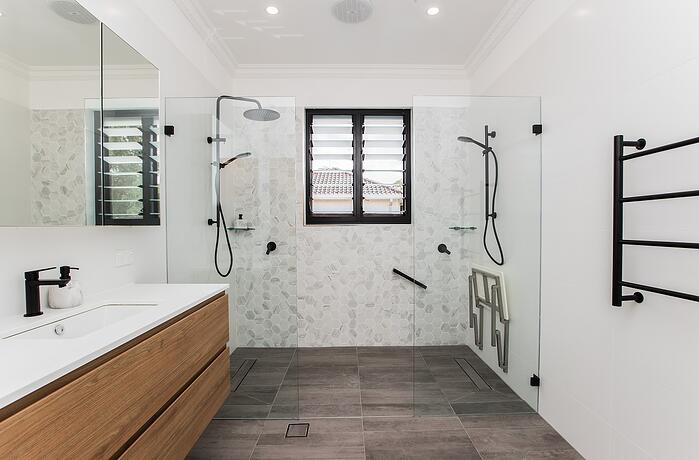 Accessible Bathroom by Crystal Bathrooms