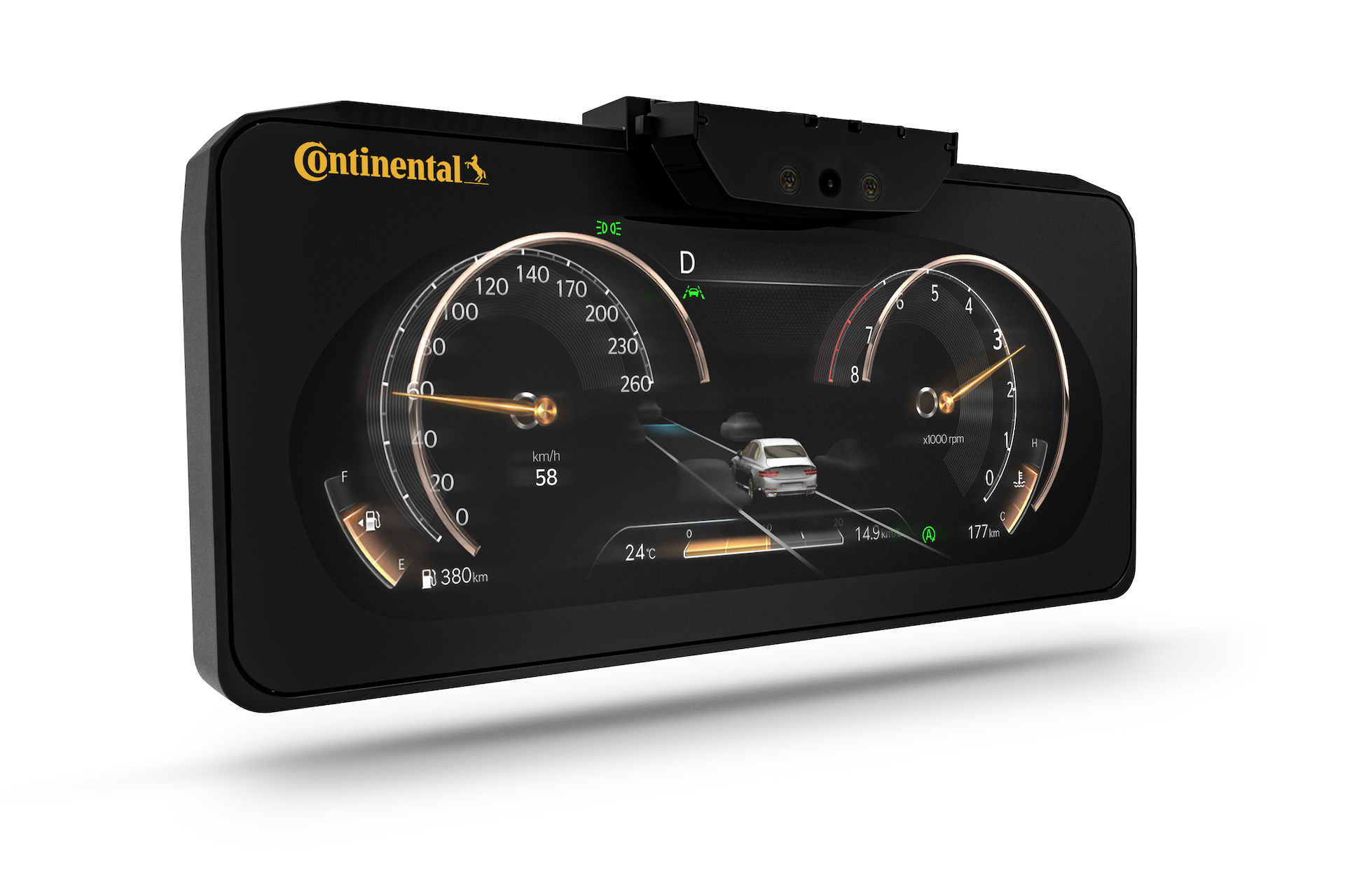 Continental 3D display powered by Kanzi