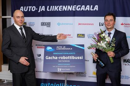 Rightware presents Innovation Award at Finland's Auto and Transportation Gala