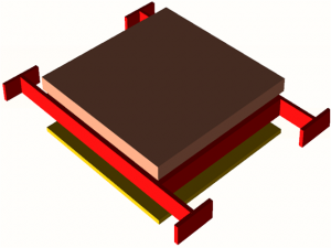 mems variable capacitor 3d model