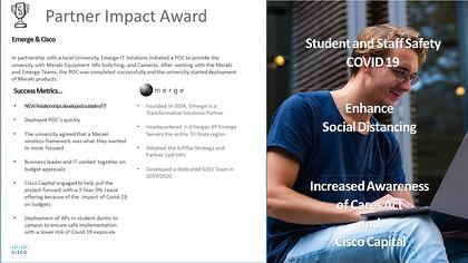 PRESS RELEASE - Emerge Honored With The Cisco Partner Impact Award