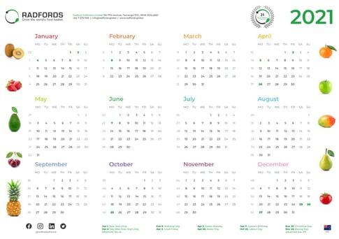 Radfords ISO Calendar 2021