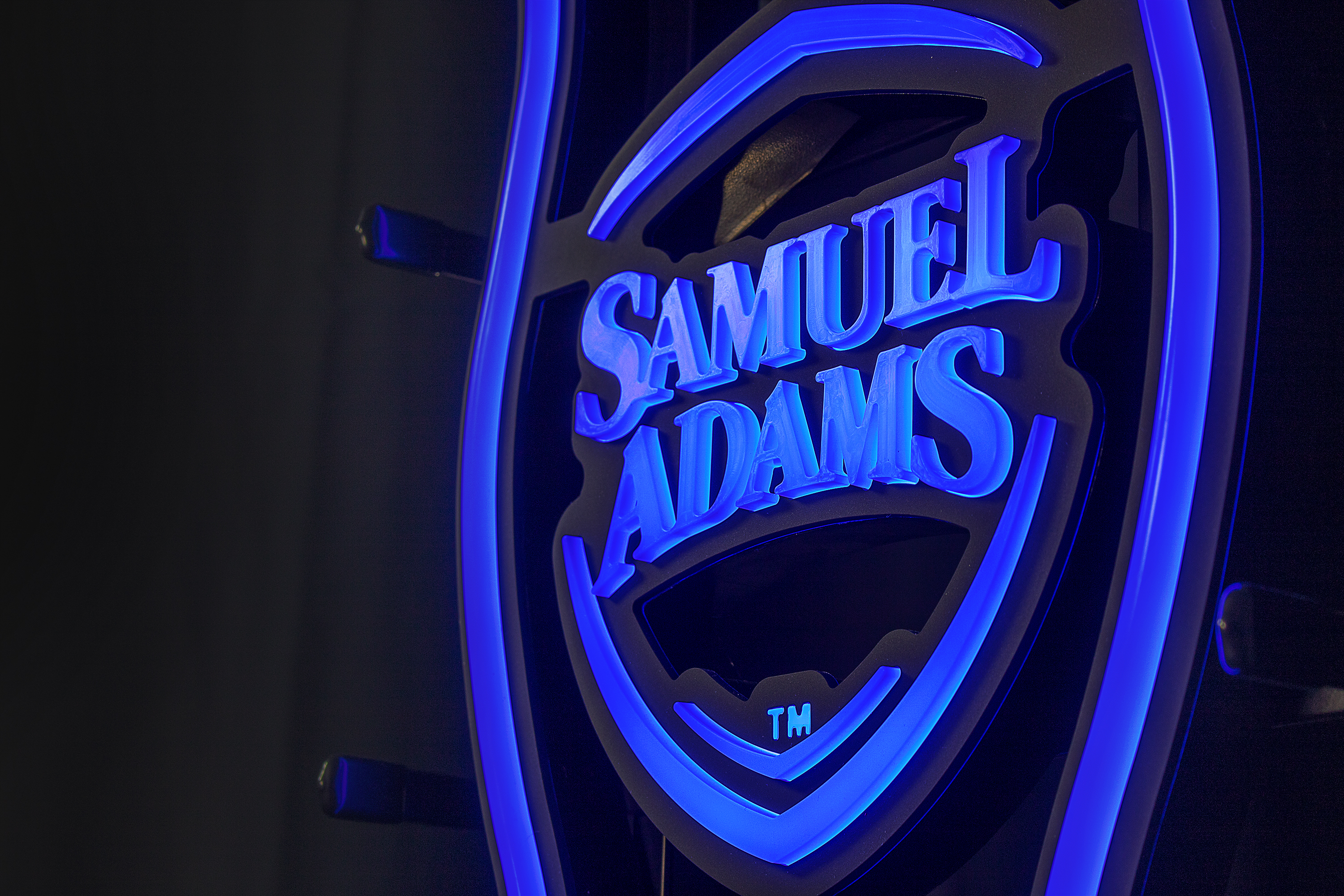 sam adams blue detail on