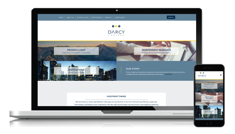 D'Arcy Capital Website Redesign