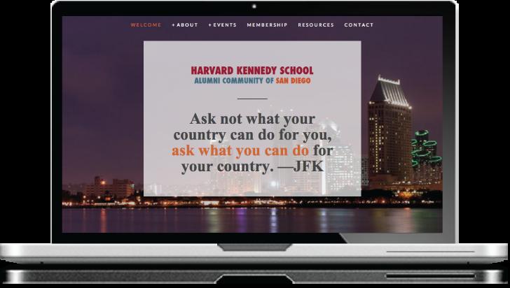 Harvard Kennedy School Alumni Community of San Diego Website Design