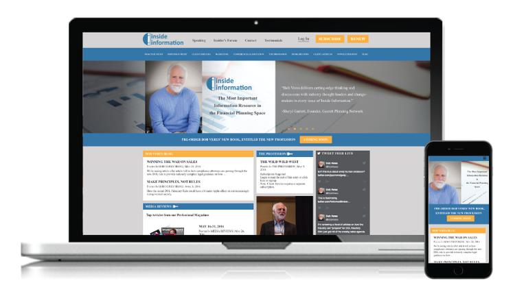 Redesign for Bob Veres' Inside Information Website