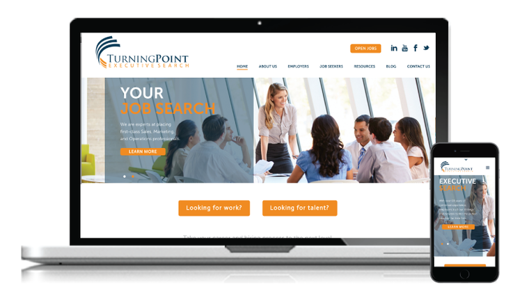 TurningPoint Executive Search Website Redesign