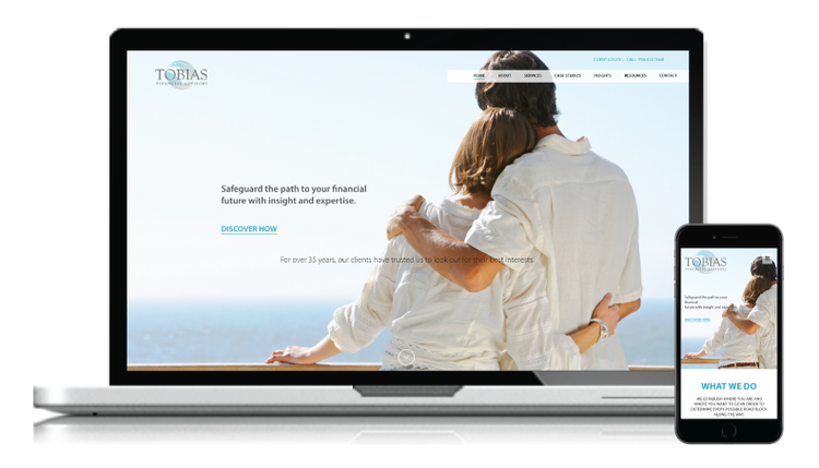 Website and Branding Redesign for Tobias Financial Advisors
