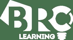 BRC learning logo WHITE