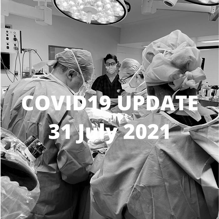 Covid-19 AR Plastic Surgery Update 31 July 2021
