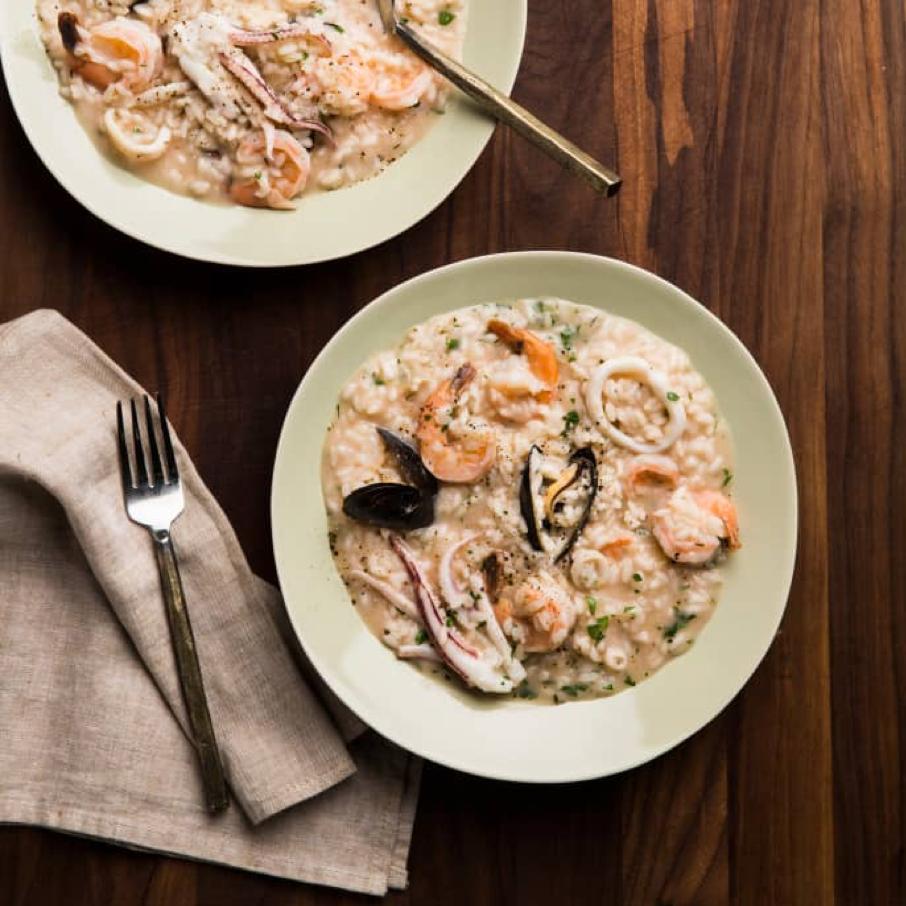 Calamari & Seafood Risotto