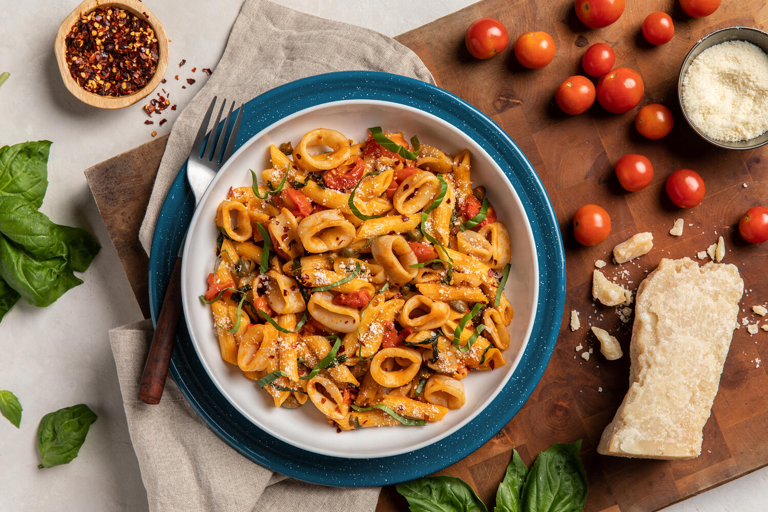 Recipe: Penne with Calamari and Cherry Tomatoes