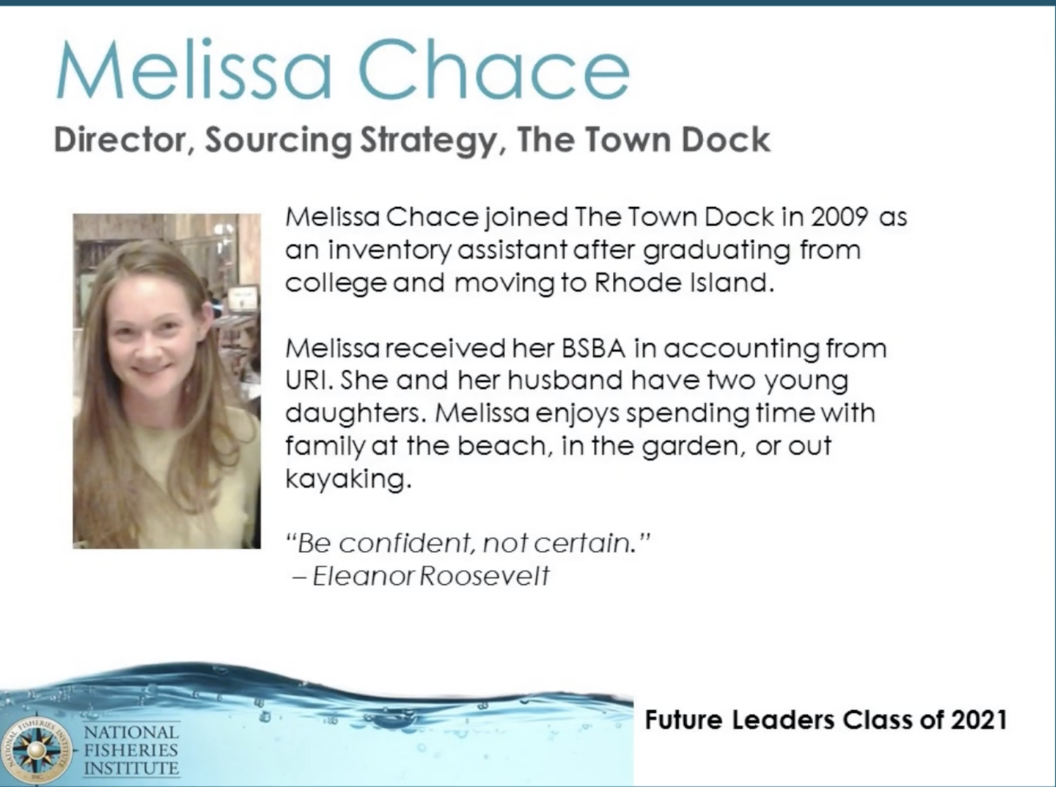 Melissa Chace: Seafood Industry Future Leader