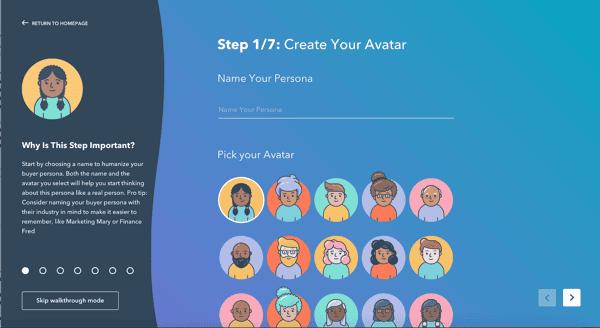 Make My Persona Hubspot Platform