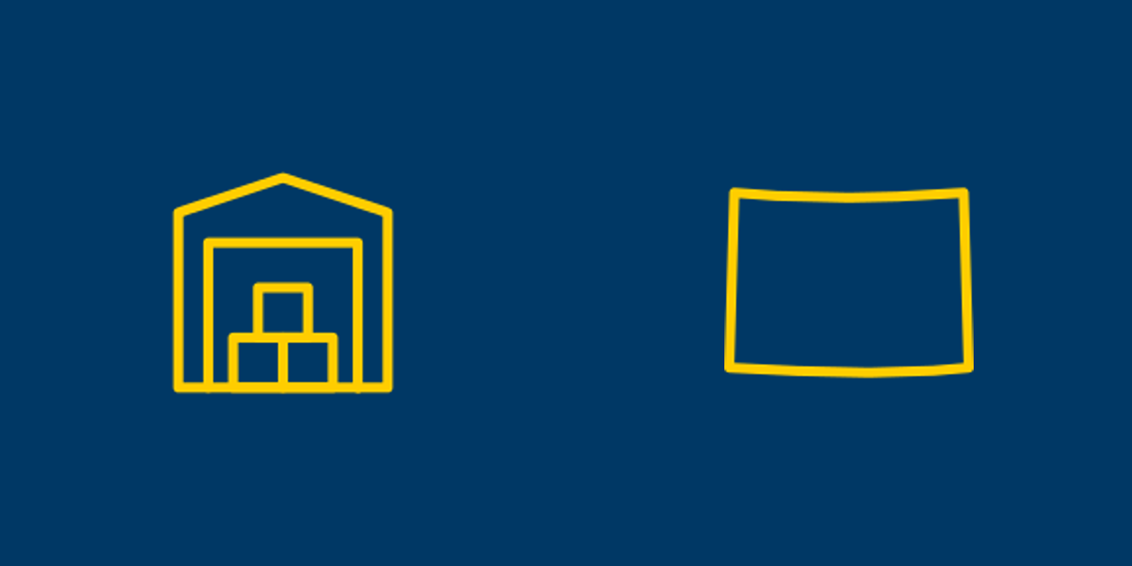Self-storage and Colorado icons.