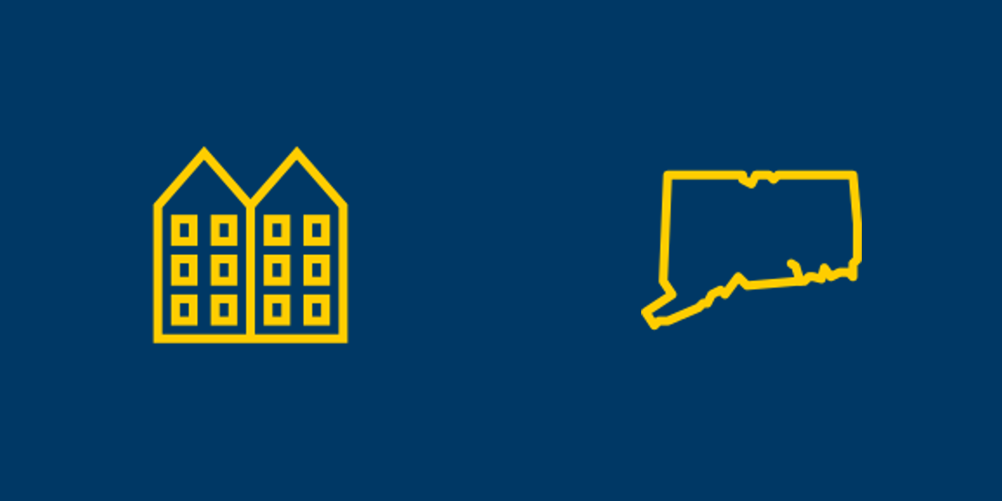 Multifamily and Connecticut icons