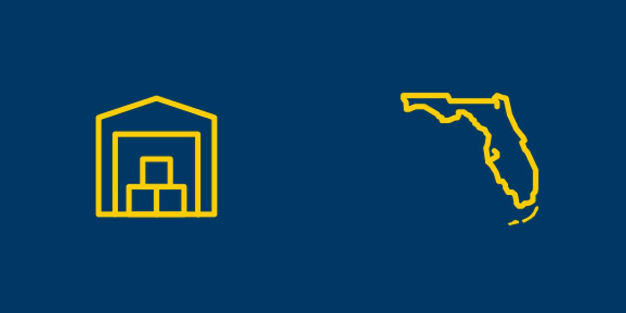 Self-storage and Florida icons.