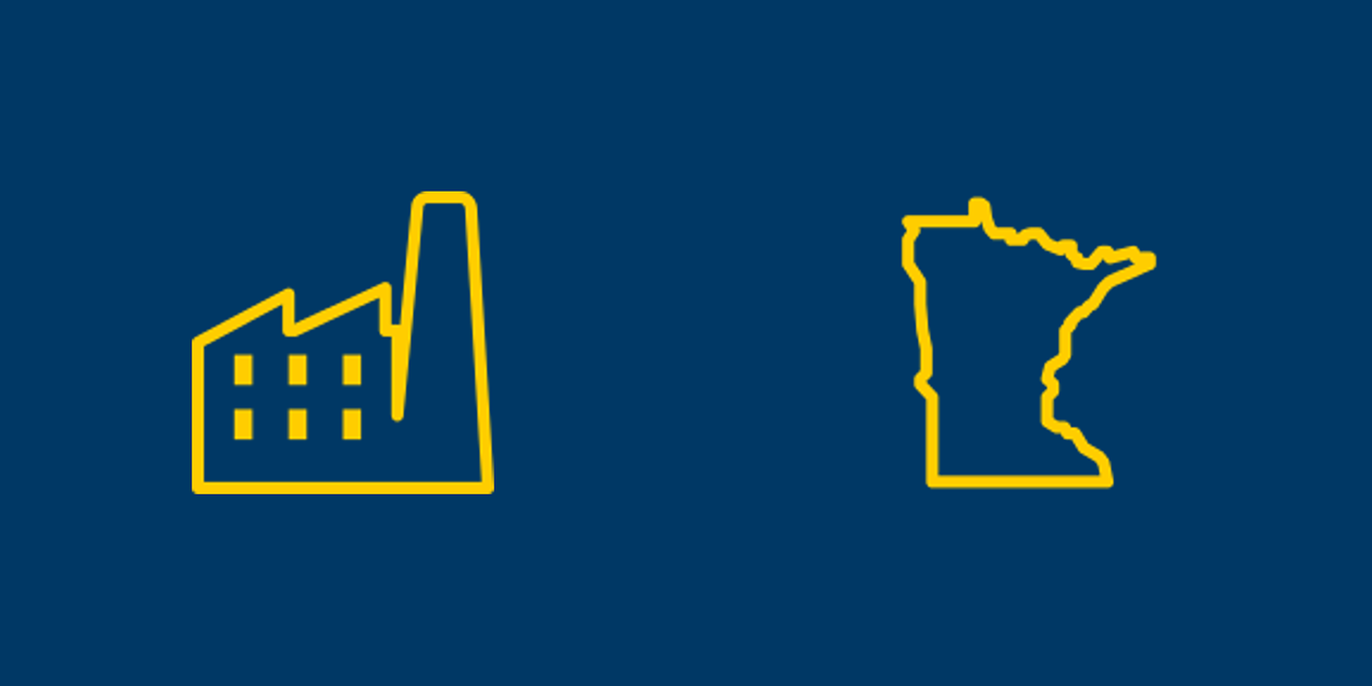 Flex-industrial and Minnesota icons.