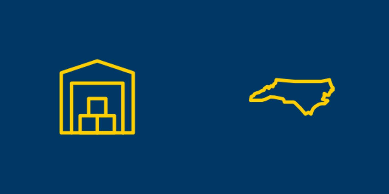 Self storage and North Carolina icons