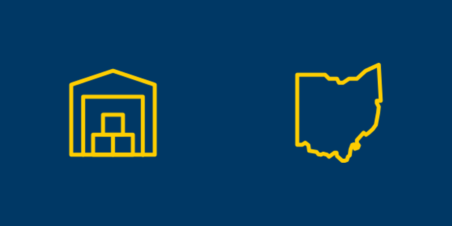 Self-storage and Ohio icons