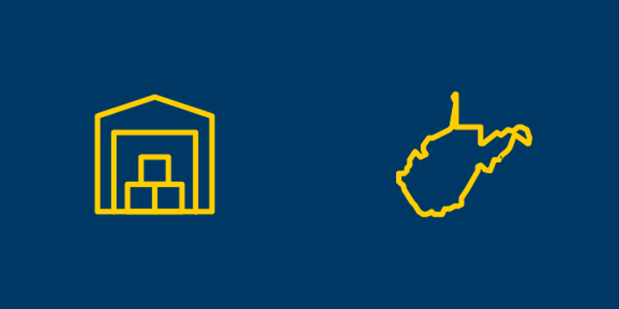 Self storage and West Virginia icons