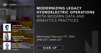 Modernizing Legacy Hydroelectric Operations with Modern Data and Analytics Practices