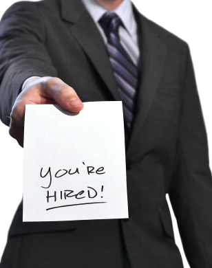 you're hired new job placement