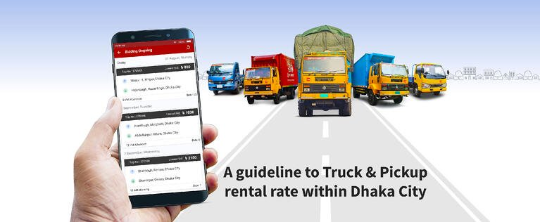 A GUIDELINE TO TRUCK & PICKUP RENTAL RATE WITHIN DHAKA CITY