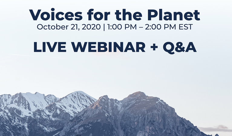 Voices for the Planet: Live Webinar + Q&A
