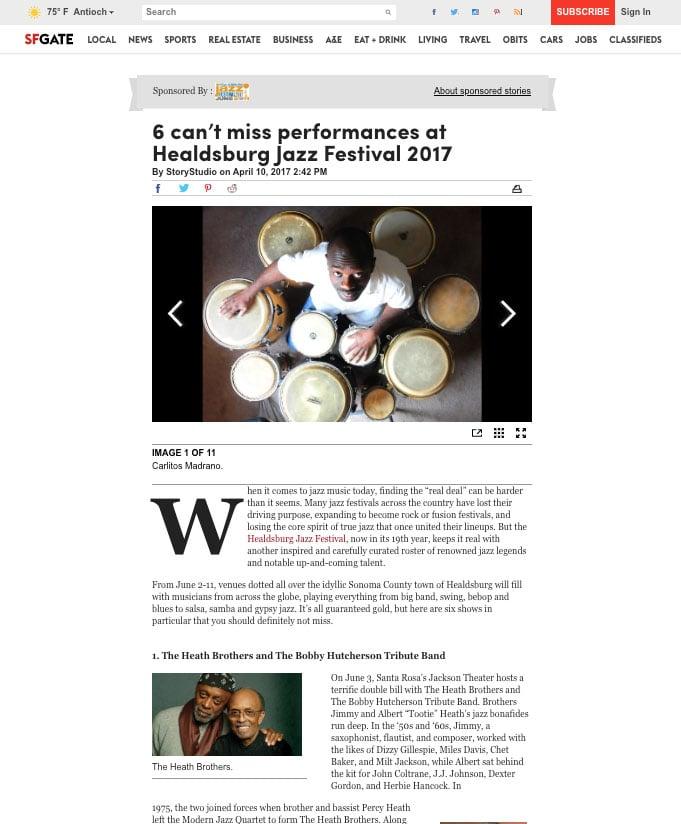 Heldsburg Jazz Festival StoryStudio Native Ad Example copy