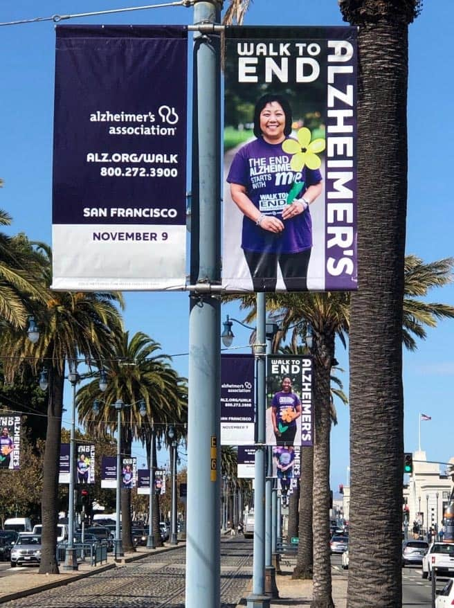 Walk to end alzheimers Outdoor banner example 46mile