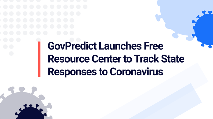 GovPredict Launches Free Resource Center to Track State Responses to Coronavirus