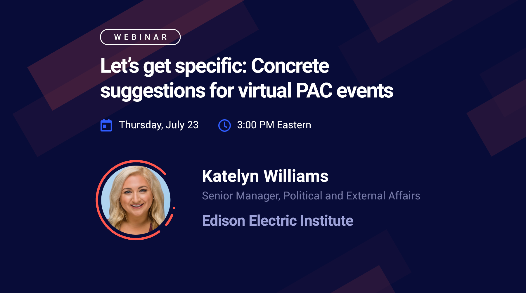 Webinar - Let's get specific: Concrete suggestions for virtual PAC events