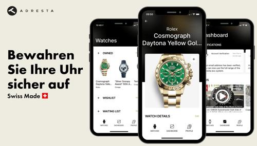 Schweizer Startup Adresta startet globale Uhren-App für Android und iOS