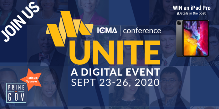 Join us at the ICMA Annual Conference: UNITE – A Digital Event & you could WIN an iPad Pro