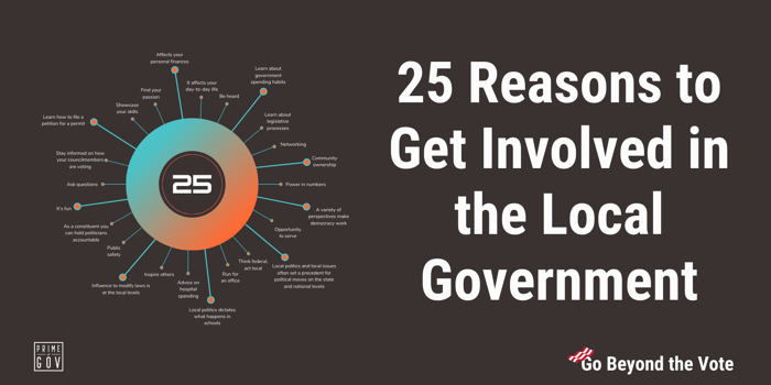 25 Reasons Why You Should Get Involved with Your Local Government