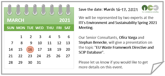 ITI's Environment & Sustainability Spring 2021 Meeting: March 16-17, 2021