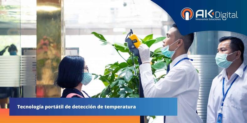 Cámara térmica portátil, crea entornos de trabajo seguros