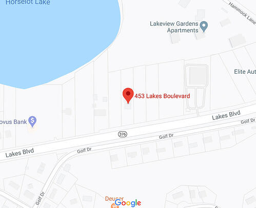 Map Image of our Lake Park location.