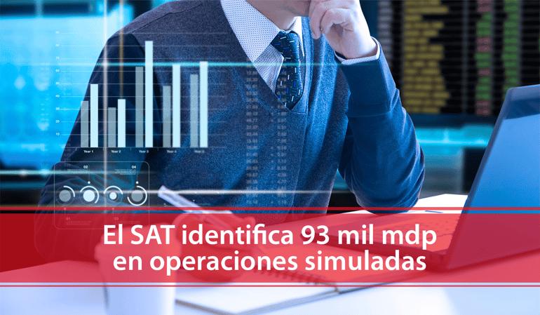 El SAT identifica 93 mil MDP en operaciones simuladas