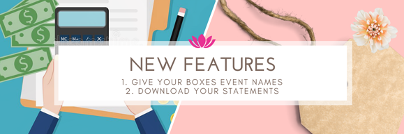 NEW Feature launch: Event names & download statements!