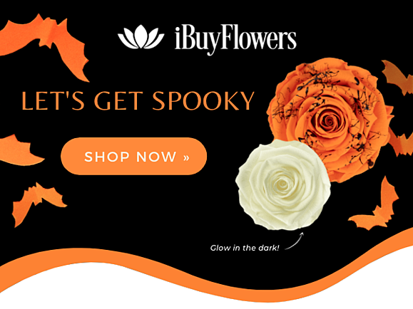 Preserved roses Halloween collection